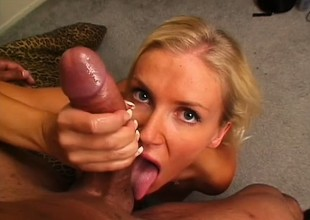 Libidinous flaxen-haired mom helter-skelter marvelous big boobs needs to get pounded rough