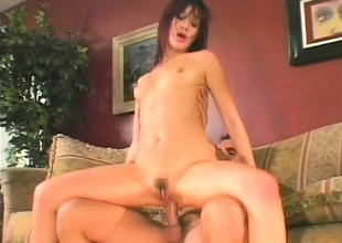 She gets will not hear of skinny Asian derriere drilled after he pounds will not hear of pussy