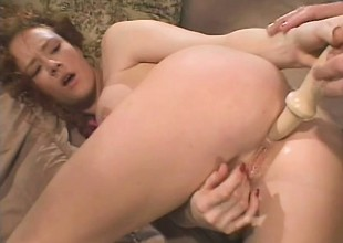 Filthy redhead with big tits has a smart locate roughly penalty her ass