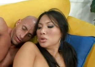 Super downcast Asian Asa Akira