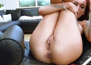 Depreciatory british babe Chantelle Fox rammed deep wide will plead for hear of sexy pussy and asshole
