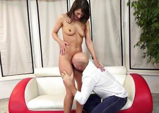 Beth Chance smashed in her soft pussy by an senior baffle