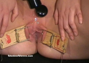 Mousetrapped fair-haired slaveslut Donna