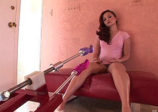 Enticing complain uses a hardcore going thither bed machine thither tire her asshole