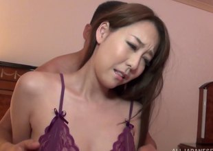 Morose telegram bondage leads to hot coitus with a Japanese girl