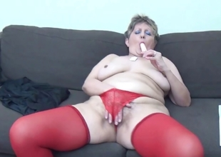 Mature unspecified roughly down in slay rub elbows with mouth red stockings