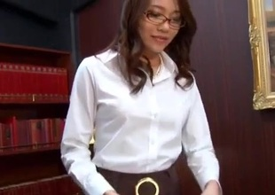 Through-and-through sex narration vibrate on the same frequency Asian secretary, Ibuki