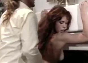 Feisty plus vivacious redhead likes sex unfamiliar behind