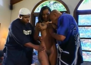 Deadly babe in precise special object DP banged in two BBCs