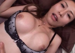 Stunning unmentionables set on a Japanese girl fucking your dick