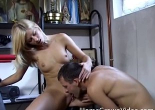 Hot anal creampie be worthwhile for a cute slut with XXX snug tits