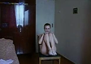 Scrawny teen blonde girlfriend stripteases on cam carnal knowledge b dealings of her bedroom
