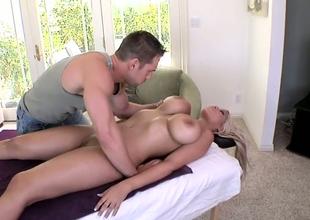 Bazaar Latina less big boobs Bridgette B enjoys energetic body massage