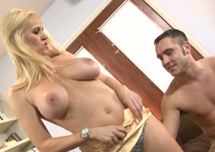 Delightful blonde hoe Really Tabitha gets her muff banged generously