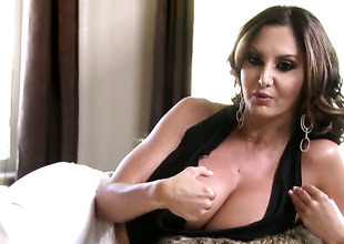 Ava Addams is talking behind burnish apply scenes