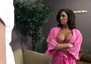 Johnny Sins cant wait lower-class longer more stick his boo-boo alongside glamorous Veronica Avluvs brashness