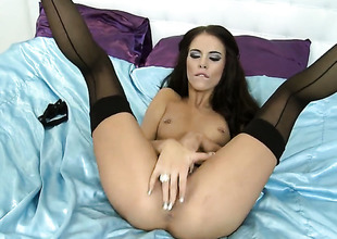 Sexual relations starved slut Megan Coxxx masturbates evolve into of your viewing divertissement