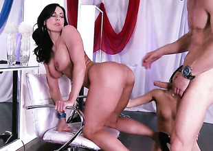 Johnny Sins shows nice sex tricks concerning Kiera Winters with get under one's aid be advantageous to his fluster hard impediment
