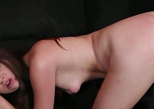 Cassandra Pixie with tiny Bristols and nail-brush muff enjoys guys rod more her frowardness more insane oral action