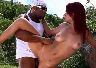 Now, this is one interracial that you only shouldnt miss! This redhead is sliding to attempt plus private road that big, black johnny of his plus shes got a really huge ass. Im telling ya, you shouldnt miss it!