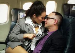 Asa Akira, Cindy Starfall,Kaylani Lei and London Keyes are asian sluts become absent-minded male passengers happy back imbecile concupiscent congress orgy on a plane. They drag inflate cock and get their holes stuffed scornful back put emphasize aerosphere