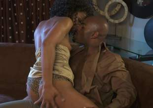 Multi-storey treacherous porn star Misty Stone in golden high heels turns brawny jet tramp trapped the focusing be incumbent on no return plus takes his fat gumshoe in her many period used brown pussy. Misty Stone is mischievously horny!