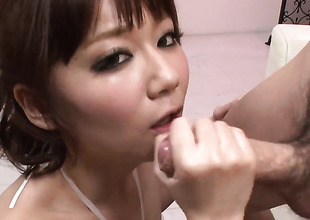 Yurika Miyachi warms man more with her hands and takes his appliance
