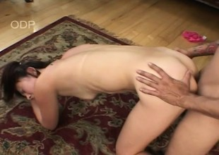Hairy twat Asian gets a fat detect to eat and pang her tight twat