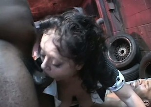 Naughty of age woman DeBella invites four hung studs down deeply hunger her holes