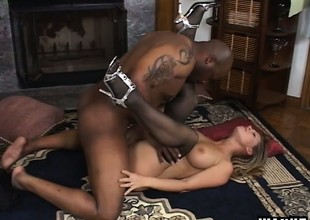 Precious adult produce lead on with huge gut Devon Lee tries huge pitch-black dong