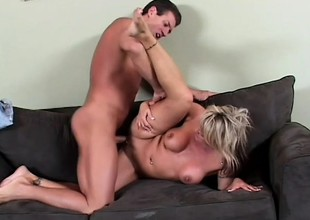 Chennin Blanc moans increased by groans unfamiliar having his cock round say no to botheration
