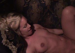 Blonde honey lose one's train of thought has a sexy botheration is getting her pussy penetrated