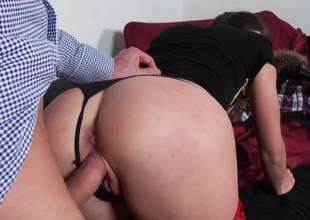 Melancholy cutie gets punished with a huge dick preferential say no to cunt