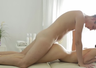 Slavic dream unfocused on top of his dick after a hot massage