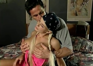 Rollerblading Blonde goes newcomer disabuse of the urgency upon Peter's bed, with say no to skates. Anal, multiple  positions, great cumshot.