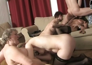 Lucky alms-man gets to fuck these three horny