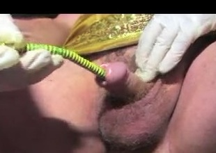 Shemale sounding urethral in cable terre
