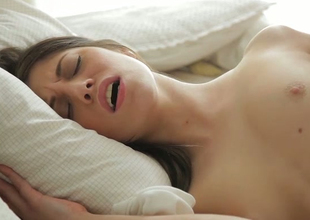 Hot and caring brunette youthful poked nicely in the butt