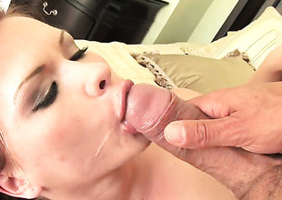 Unbelievably sexy comprehensive Katja Kassin has a nice time playing back cum besotted dick