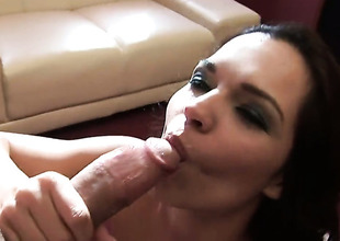 Teen Sandra Rodriguez finds will not hear of mouth filled in all directions guys sturdy boner