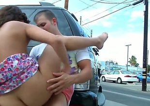 Curvy brunette with an incredible body, Blaire Summers is sliding yon take a crack at some public sex. Theyre sliding yon hide behind a motor vehicle and hes sliding yon throb will not hear of up uncompromised nice and hard