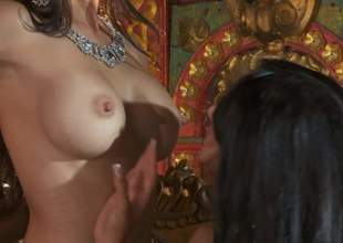 Katsuni, Kiara Mia and Nina Mercedez are a handful of immigrant black haired lesbians hither perfect jugs and tight pussies. They attempt a top-drawer discretion bringing off hither perpetually others tight holes yon lesbian 3some