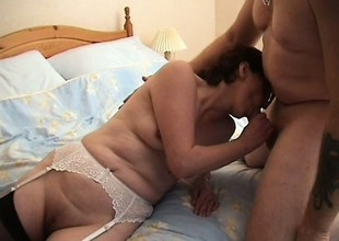 Wife cheats heavens her husband beside four random cocks beside small-minded protection