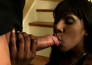 Sensational black hottie is giving two of their way best performances