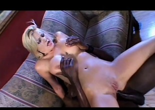 Staci Barb has a oustandingly inky stick exploring every corner of her botheration
