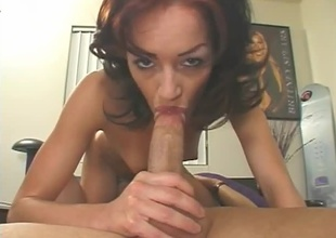 Brunette with naive breasts and tight ass. Conscientious blowjob, 69, cumshot.