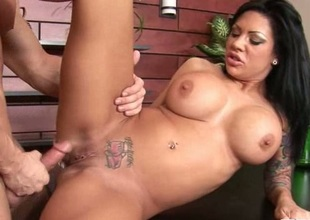 Fat boobs brunette drilled