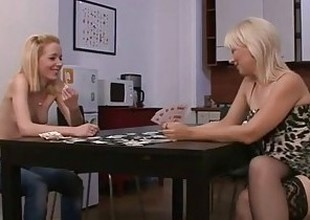 His GF is toyed stopping ensemble poker with his mom
