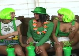 Nikki, Sammie Rhodes, Devi Emmerson well-timed Of The Irish Photograph