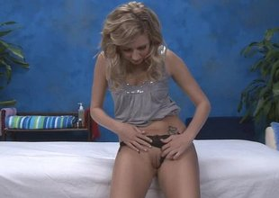 Blonde skinny Kneading girl Kodi